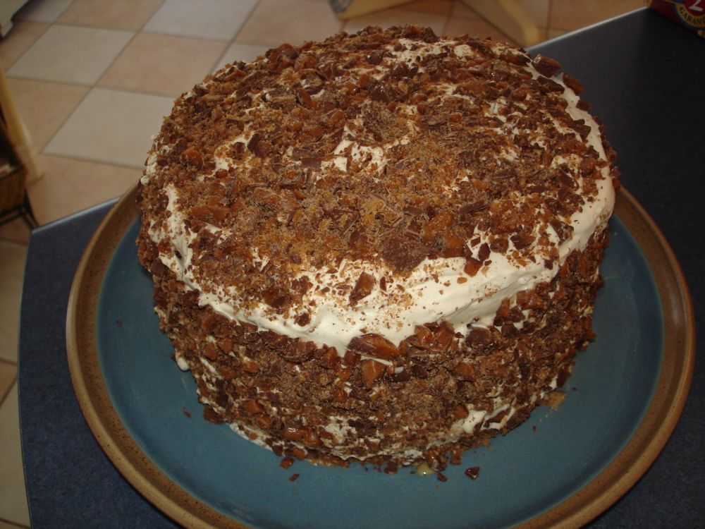 Six Layer Toffee Torte