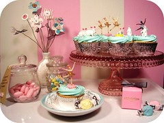 ballerinas & bunnies cupcakes (holiday_jenny) Tags: birthday pink party ballet vintage easter dessert cupcakes baking spring sweet cupcake sprinkles bakery pastels candies toppers picks frosting ballerinas candyjars