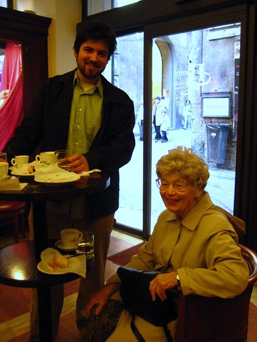 Nana and Husbear at Nannini... hee!
