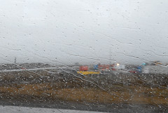 En bus de l'aèroport à Reykjavik - Island