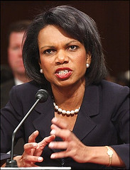 condi rice looking very angry