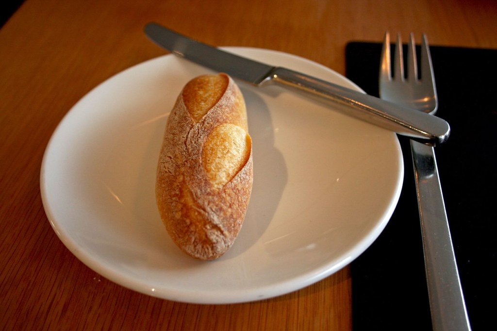 Mini Baguette on a plate