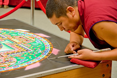 Tibetan Mandala Sand Painting-3807 (MattPenning) Tags: art monk buddhism mandala demonstration monks tibetan meditation enlightenment sandpainting vajrayana pentaxk10d tibetmonkmandala