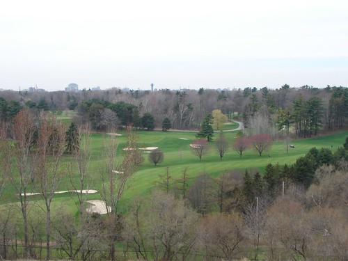 Spring time golf course