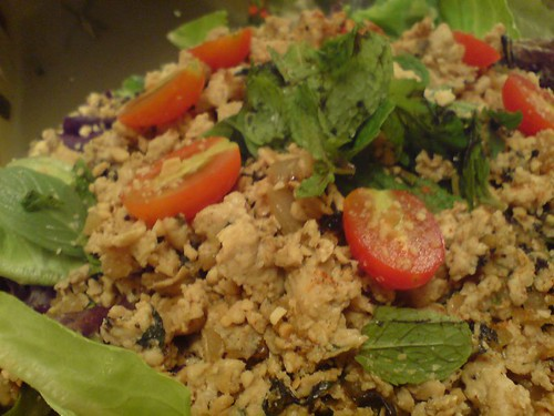 Minced Chicken Basil Salad