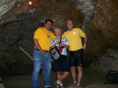 In Valenciana mine with our guide Carlos