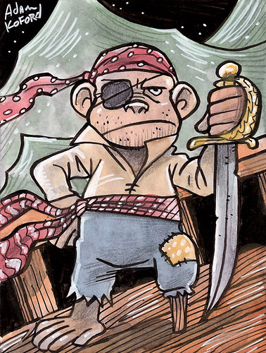 Tiny Pirate, Monkey of The Seven Seas by Ape Lad