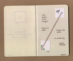 CADM No. 2 | Sticky Tongue (renmeleon) Tags: art moleskine illustration paper square design reptile may lizard chameleon ria kraft 1x1 oneinch cahier renmeleon everydayinmay inchies chameleonaday renfolio
