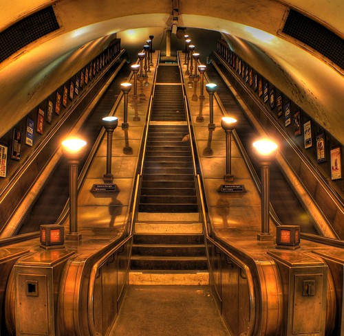 Southgate tube station escalators