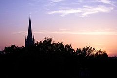 From My Bedroom Window - Sunset Norwich Cathedral 05 05 07 (Colonel Blink) Tags: norfolk norwich frommybedroomwindow norwichcathedral thorpestandrew colonelblink impressedbeauty