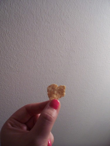 heart shaped cornflake
