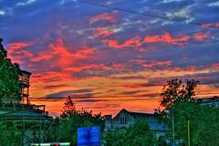 HDR Sunset (ovidium) Tags: blue sunset red sky urban green canon wow eos colorful romania redsky canoneos hdr iasi iasiromania hdrsunset canon400d ovidiumoraru ovidiumorarucom