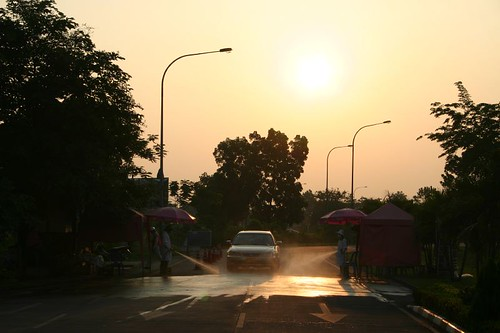 Sunrise at the Thai-Lao border...