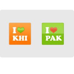 Love Karachi & Love Pakistan Banners