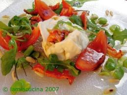 Burrata con pomodori