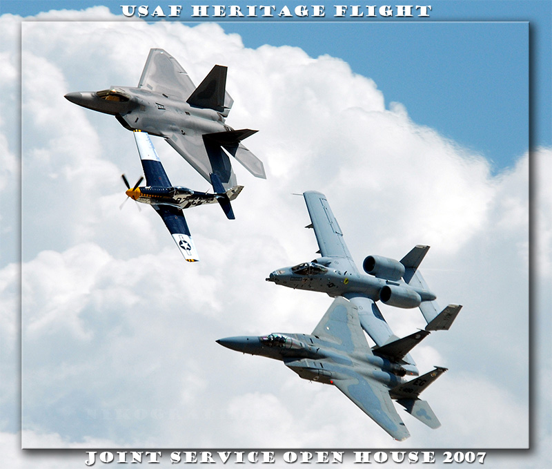 USAF Heritage Flight - JSOH 5/19/2007