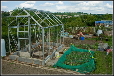 2007-05-20  Allotment - Greenhouse base finished  045 copy