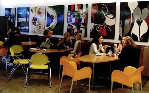 Банкетный зал бара, кафе cafe people (кафе пипл) на итальянской улице - томесто спб