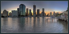 Evening By The River (Ozventure) Tags: city sunset panorama geotagged australia brisbane queensland cbd brisbaneriver hdr jetties photomatix 10faves panoramafactory explore236 ibeauty geo:tool=gmif superhearts geo:lat=27472067 geo:lon=153034143
