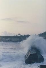 (2) 石梯坪的波濤洶湧