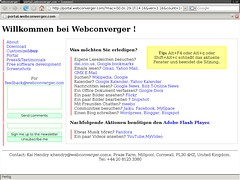 Webconverger in German