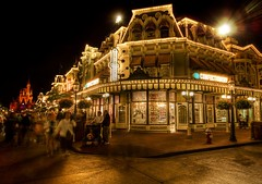 The Confectionary at the Magic Kingdom - night light lights disneyworld artist edge hdr world texture colors mood tones