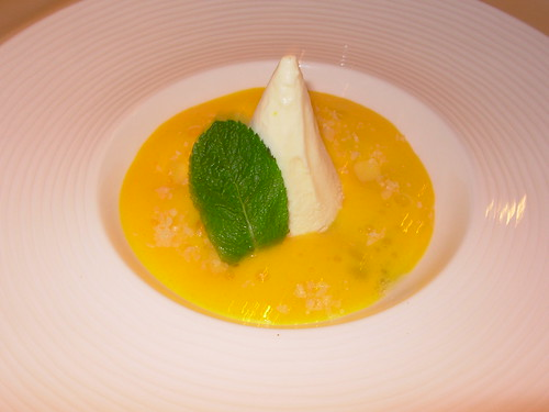 Crown at Whitebrook - Coconut Panna Cotta with Mango