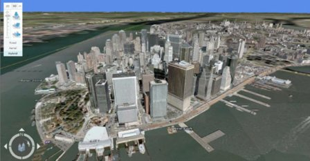 Microsoft 3D view Manhatten