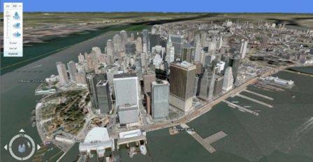 Microsoft 3D view Manhatten