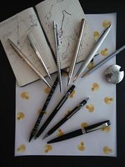My Writing Instruments II - Ballpens & Pencils (kenzodiazepine) Tags: pens dupont stationery ricoh ricohgrdigital carandache fabercastell stdupont grd