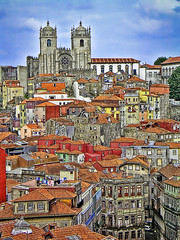 Porto Old Town and Cathedral (Daniel Schwabe) Tags: portugal porto oldtown soe interestingness20 i500 anawesomeshot travelerphotos explore30may07 lpcityscape