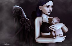 Fallen Angel (Salem Lovecraft) Tags: secondlife sl photography angel dark gothic baby blackbantam arcadegatcha arcadegatchadecember2016