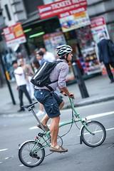 Folding bicycle (endorphin75) Tags: 2016 bicycle bike britain city commute england folding global great helmet kingdom london man sightseeing united unitedkingdom