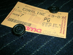 movie 3d review ticket button 365 stub critique coraline project365 february82009