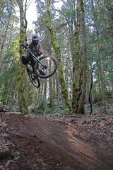 skidder (ctoz) Tags: trees mountain bike forest t big hit jump woods kevin gap dirt dh tweak junior rider vedder mtnbike skidder