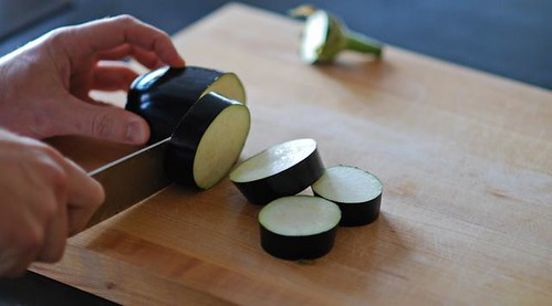 round slices of eggplant - cookthink
