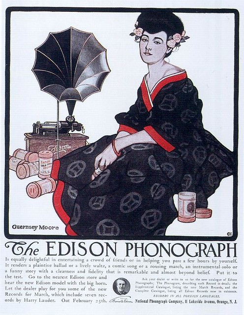 Guernsey Moore, Edison Phonographs, 1908