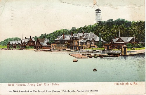 Boat Houses, Along East River Drive