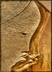 Three Faces of Stone (chatallot) Tags: sculpture texture stone sandstone colours carving chisel masonary threefaces