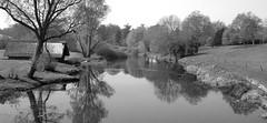 Quaint (Will Smith-Keegin) Tags: trees blackandwhite bw reflection river moo boathouse warwick warwickcastle challengeyouwinner