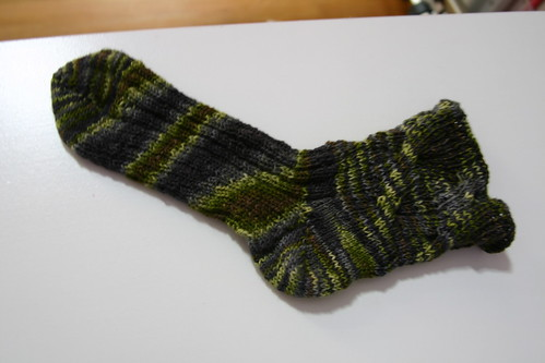 One finished sock