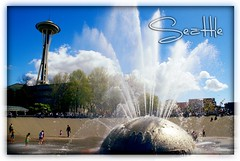 international fountain (Rachel-B) Tags: seattle city fountain hometown space postcard center international needle cwd cwdgs cwdweek15 cwd153 cwdgs15