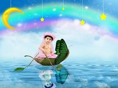 fairy boat (mylaphotography) Tags: moon art stars boat photo rainbow digitalart manipulation fairy fantasy rahi childphotography jaber instantfave flickrsbest mylaphotography michiganstudiophotography fairytalephotography