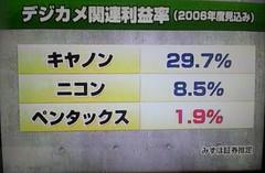 デジカメ関連利益率 2006 2