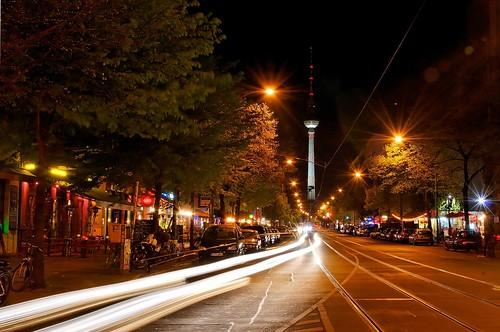 Oranienburger Street by Night