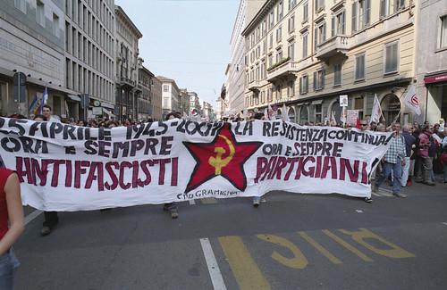 il Gramigna al corteo del 25 aprile a Milano