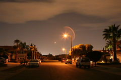 down the street (tgagephoto) Tags: elpaso eastside neighborhood longexposure 5d canon light night clouds sky coolest ihveissues tgage tomgagephotography copyrighted