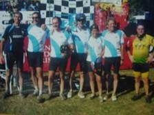 Ciclistas de Hernando que participarón en el Desafío al Río Pinto