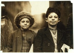 No Known Restrictions: Joseph and Rosy, 10 and 8 yrs. Old by Lewis Hine, 1909 (LOC) - by pingnews.com