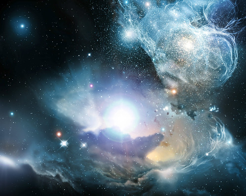 From the Ashes of the First Stars - An Artist's Impression by NASA/ESA/ESO/STECF (NASA)